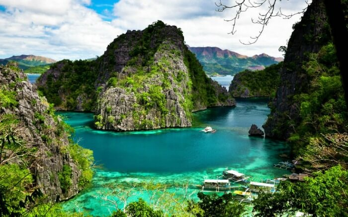 Colorful landscape of Coron Island in Philippines