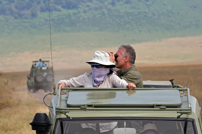 Couple on safari