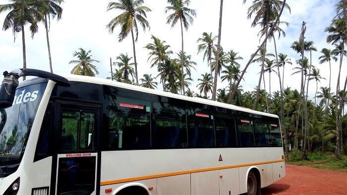 bus coach in goa