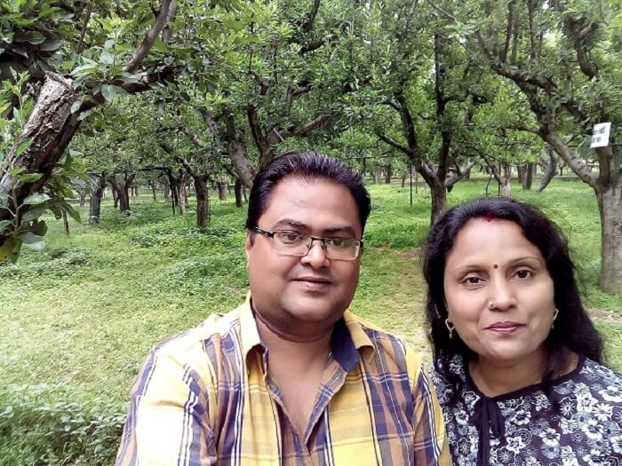 rakesh and his wife to sightseeing in gulmarg
