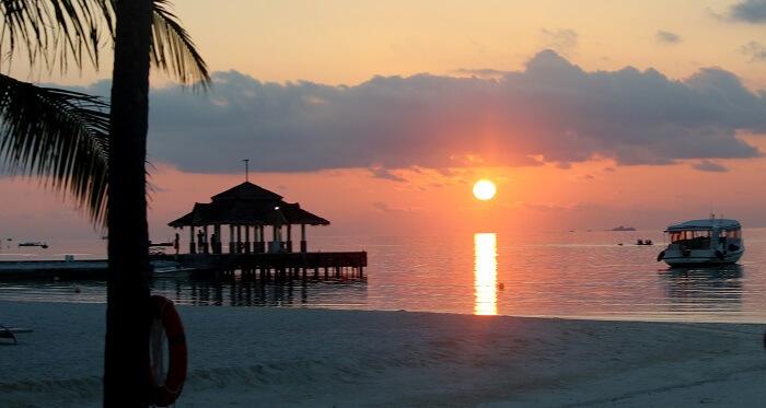 sunset photography maldives