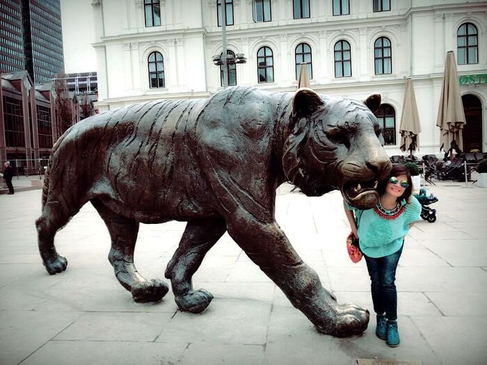 big cat statue in Oslo, Norway