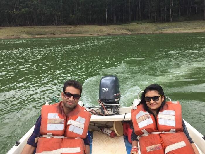 munnar speed boat ride