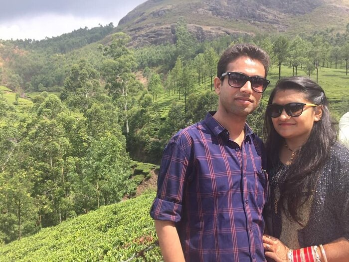 mukul and his wife in munnar