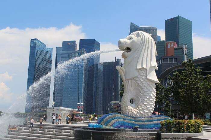 singapore city merlion