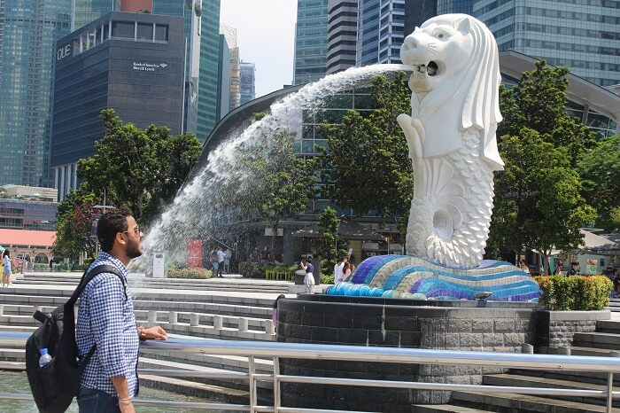 singapore city merlion visit
