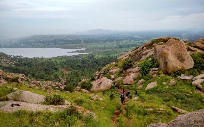 Lake view from Kunti Betta