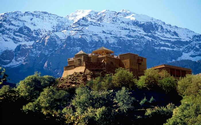 Mesmerizing landscape by Djebel Toubkal mountains in Morocco