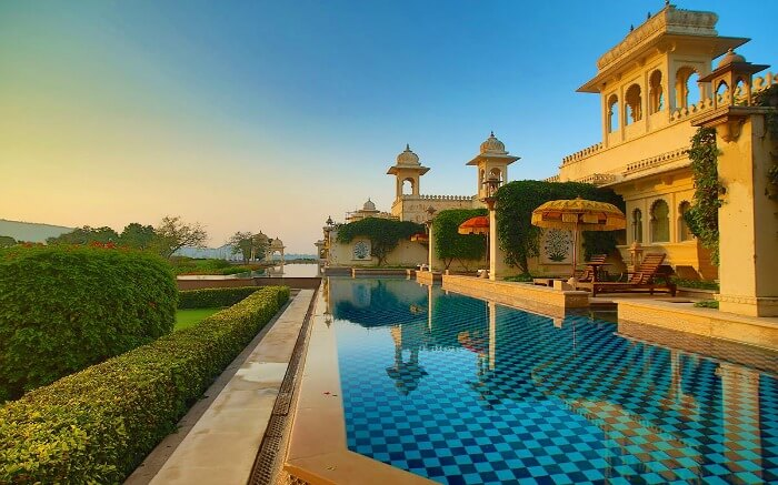Pool in Oberoi Udaivilas in Udaipur