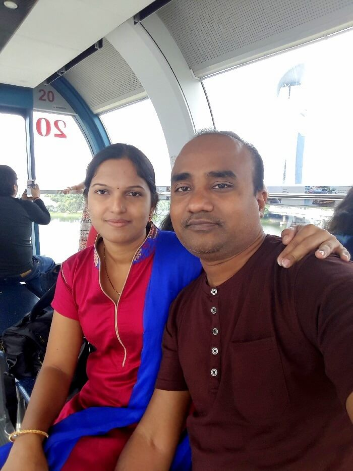 Singapore flyer family trip