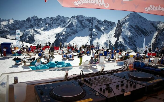 Music and ski festival in Austria