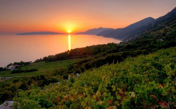 Sunset in Peljesac