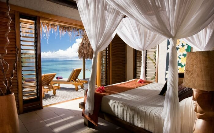 The beautiful sea view from one of the suites of Tokoriki Island Resort in Fiji