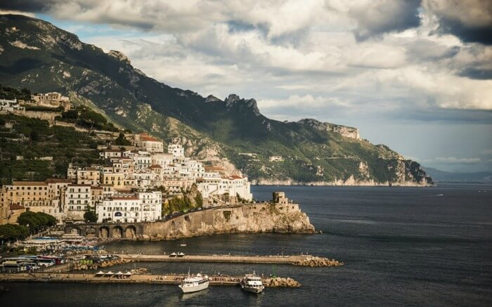 The majestic view of Amalfi Coast in Italy