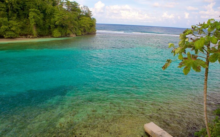 Turquoise water of Port Antonio