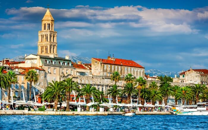 View of Split in Croatia- one of the best places to visit on a honeymoon in Croatia
