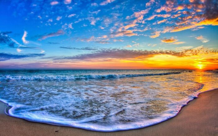 a gorgeous sunset view from a beach