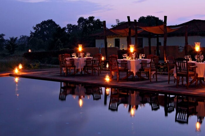 A view of Samode Safari Lodge in Bhandavgarh