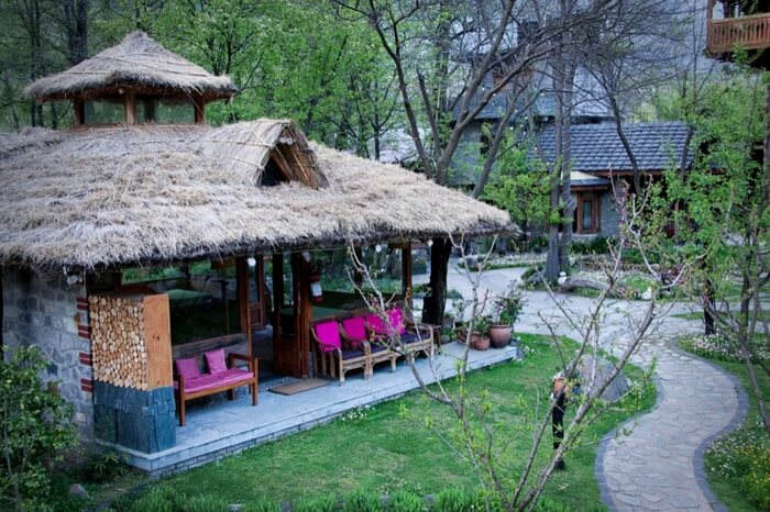 A picturesque hut of Neeralaya Hut in Manali