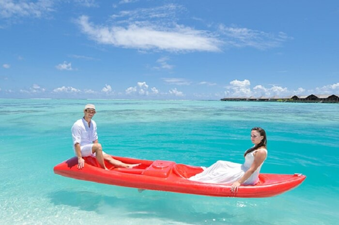 Canoeing at Paradise Island