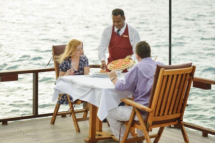 Italian cuisine at Paradise island