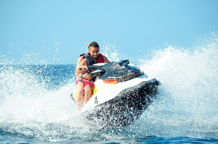Jet Skiing at Paradise island resort