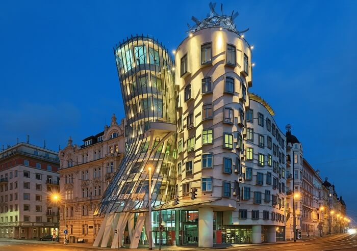 The aesthetically designed Dancing House Hotel in Prague