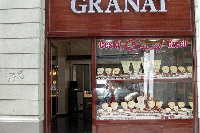 The popular Cesky Granat Turnov in Prague from where one can purchase some inexpensive jewelry