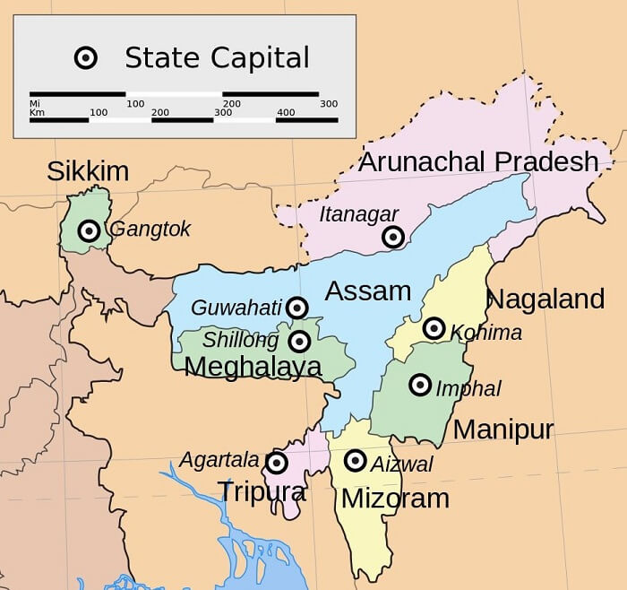 states in North east India
