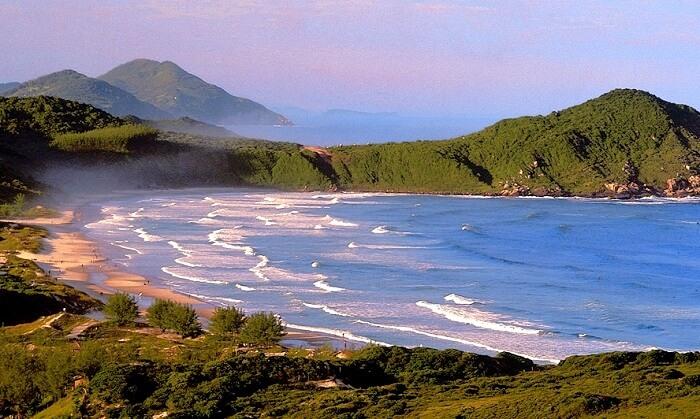 Praia do Rosa beach in Brazil