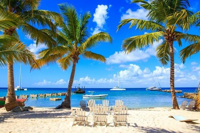 Beautiful caribbean beach on Saona island in Dominican Republic