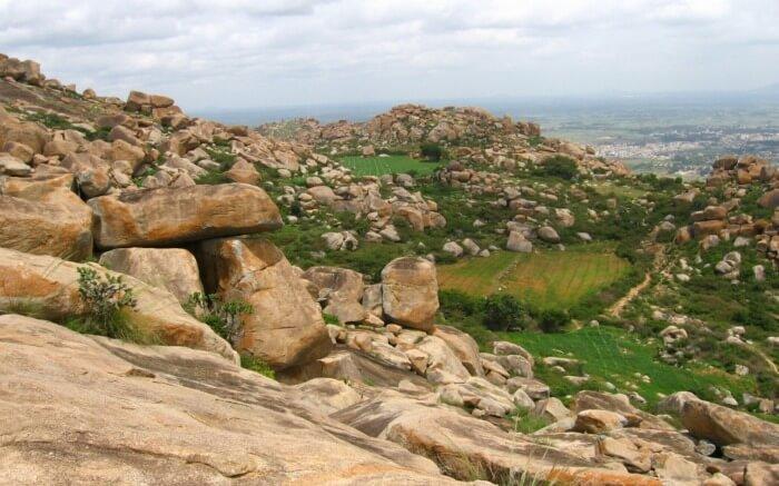 volcanic rocks on Anthargange hills