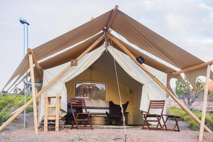 The Under Canvas camp