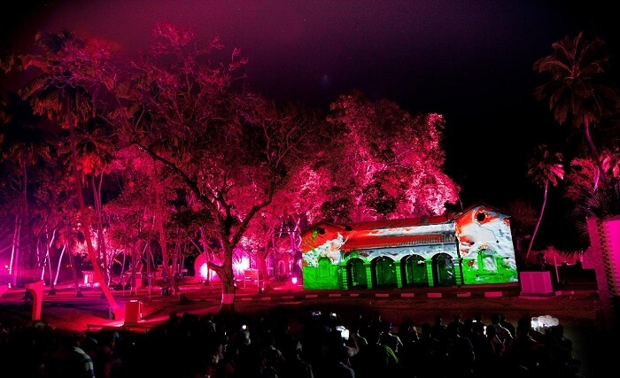 Light and sound show in Andaman