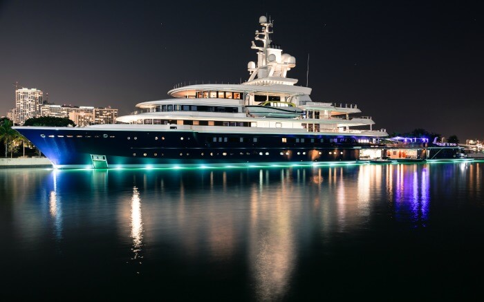 A glittering superyacht in New Zealand