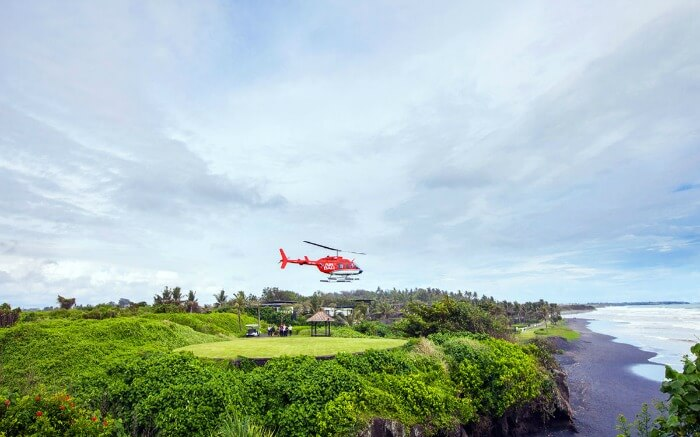 Bali heli ride - one of the best things to do in Kuta