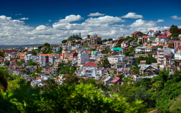 Beautiful view of Antananarivo city in Madagascar s