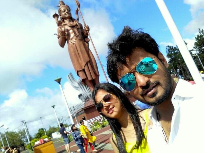 100 feet Shiva statue