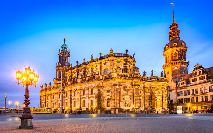 An evening in Dresden