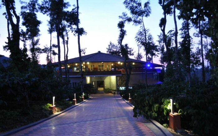 Front view of a cottage of Abbydhama Estate Homestay in Madikeri in Coorg