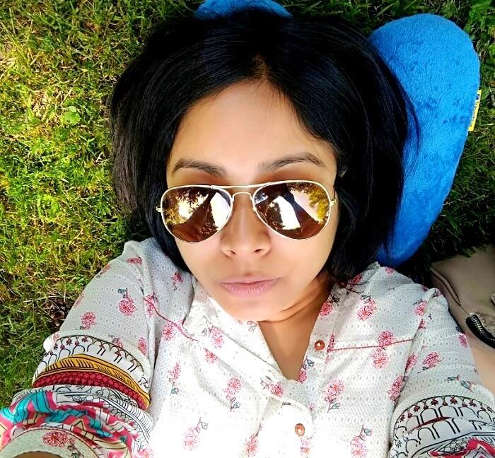 kampa island park selfie