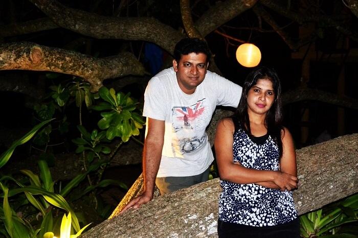 Couple travel to Sri Lanka