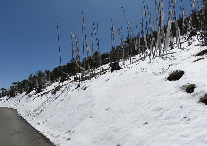 snow in bhutan