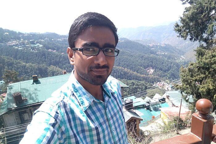 shish standing at the ridge in shimla
