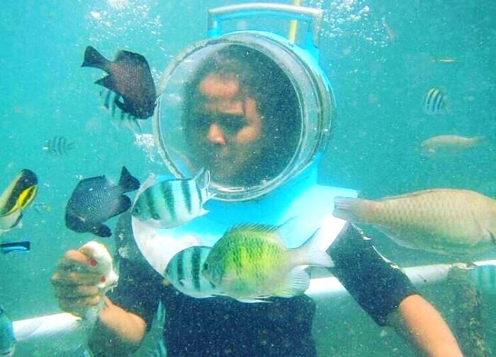 undersea walk in Bali