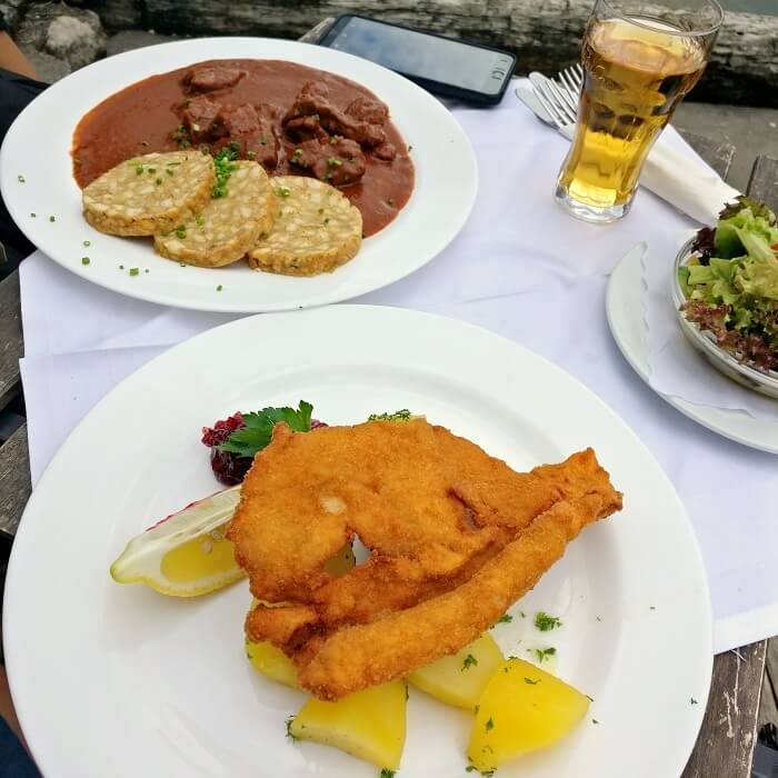 goulash and schnitzels
