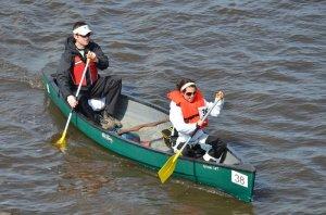 Couples kayaking