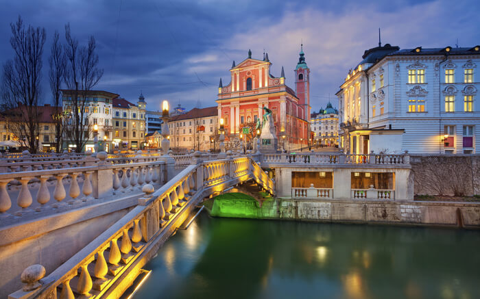 Ljubjana in evening
