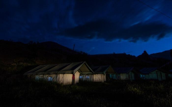 Nunkun Camps in Kargil at night