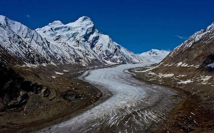 Spectacular views of Drang Drung Glacier near Dras in Kargil